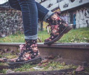 New floral Timberlands for women.